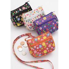Childrens Floral Pattern Mini Shoulder Bag - Choose Color - Brand New