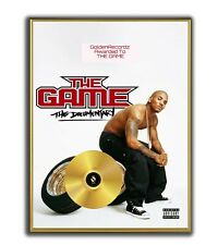 The Game Poster, The Documentary  GOLD/PLATINIUM CD, gerahmtes Poster HipHop Rap