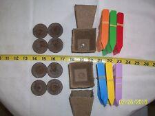 """Combo 2.25"""" Jiffy Pots, Pellets (42 mm) & plant labels  48 total pieces"""