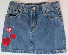 Gymboree Girls Size 4 Heart Jean Skirt Valentine's Day 2012 Line