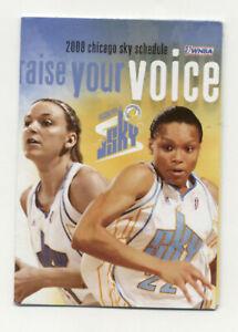 Chicago Sky WNBA Basketball 2008 Pocket Schedule