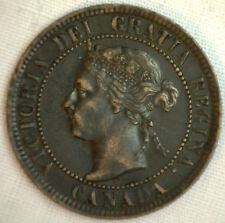 1901 Copper Canadian Large Cent Coin 1-Cent Canada XF #31