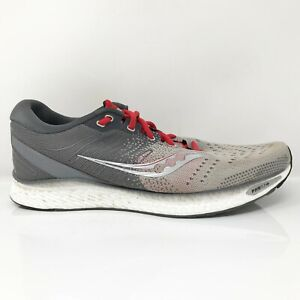 Saucony Mens Freedom 3 S20543-30 Gray Red Running Shoes Lace Up Size 12.5