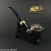 "OUTSTANDING Mr.Brog original smoking pipe nr.25 BLACK ""KAISER "" Hand made in EU"