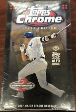 2007 Topps Chrome béisbol Hobby Sin Abrir Caja De Fábrica Sellada Hobby con 24 paquetes