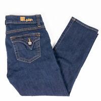 Kut From The Kloth Bardot Skinny Boyfriend Womens Jeans Dark Wash Size 6 Short