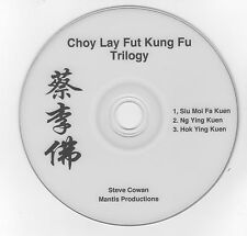 DVD - Choy Lay Fut Trilogy Forms Siu Moi Fa, Ng Ying Kuen and Hok Ying Kuen