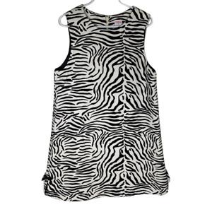 Gymboree Girls Dress Size 9 Sleeveless A Line Black White Animal Print Cotton