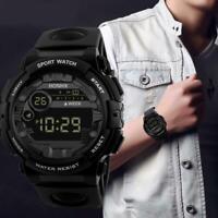 Blaue Luxus Herren Digital LED Uhr Datum Sport Herren elektronische Armbanduhr