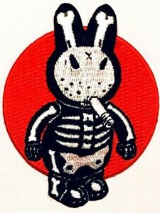 Bone Bunny PATCH Iron-On Embroidered Frank Kozik Design
