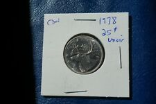 A-215 1978 Canada 25 Cents quarter Queen Elizabeth II Uncirculated