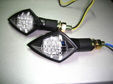 ►4X LED BLINKER GHOST E-MARK SUZUKI TS100ER,TS100ERZ,GSX250E T/X/Z,DR350SE-S-V-W