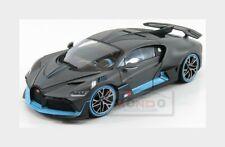 Bugatti Divo 2018 Matt Grey Light Blue BURAGO 1:18 BU11045