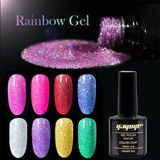 Conjunto de esmalte Gel de Color Glitter Arco Iris para Manicura Semi Permanente UV Gel de Color