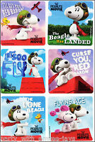 Peanuts Stickers x 6 - Birthday Party Favours - Snoopy Charlie Brown Stickers
