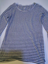 Camiseta manga  larga gris raya negra talla M marca H&M Clockhouse
