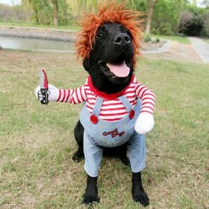Dog Cat Halloween Costumes,Pet Doll Play Cosplay, Novelty Clothes for Festival