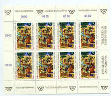 Austria 1995 stamp day sheet of 8 stamps unmounted mint