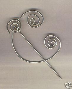 Celtic Swirl Penannular Brooch - for cloak, wrap  Cardi