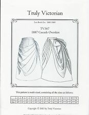 Schnittmuster Truly Victorian TV 367: 1887 Cascade Overskirt