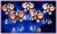 5 Crochets pics épingles cheveux cristal rose mariage