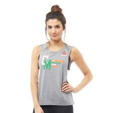 REEBOK Womens UFC McGregor Jedrzejczyk Tank GENUINE Vest T Shirt-S-M-L-RRP 29.99