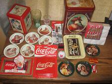 Collectible Coke Tin can Box cola soda memorabilia LOT