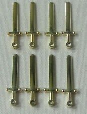 LEGO LOT OF 8 NEW CHROME GOLD GREATSWORD MINIFIGURE SWORDS WEAPONS