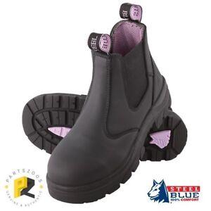 Steel Blue Hobart Ladies Safety Toe Cap Work Boots Black 512701