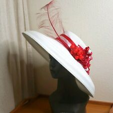 Fleur de Paris vintage hat white straw cherry