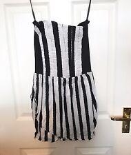 Motel Black & White Striped Dress - Size Small