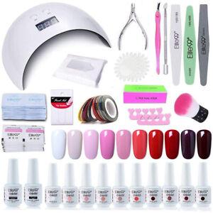 Elite99 UV Gel Nail Polish Kits Starter Manicure Set LED Dryer Base Top Gifts