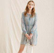 40f019b5d8e7 THE KOOPLES Blue Jasmine Printed Silk Dress Size S Orig. $388 NWT