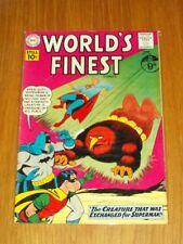 WORLD'S FINEST #118 FN+ (6.5) DC COMICS SUPERMAN BATMAN JUNE 1961