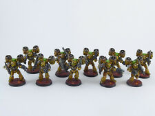 10 Mann MKV Assault Squad der Space Marines - gut bemalt Forgeworld -