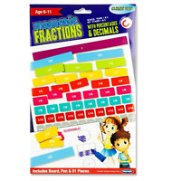 Magnetic Fraction Board with Percentages Decimal 51pcs with Pen