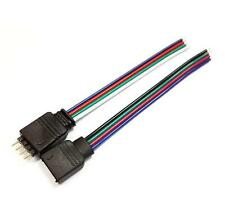 5 4 Pin Macho + hembra conector Cable de LED Flexible tiras 3528 5050 Smd Rgb