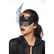 Black Swan Mask Laser cut filigree metal Luxury Costume Burlesque Prom Party