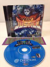 Project Justice (Sega Dreamcast, 2001) Complete w/ Manual - RARE - TESTED CIB