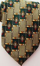 Consenso Uomo Milano Handmade Italy Gold 100% Silk Tie Necktie