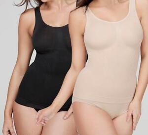 Your Secret Control Shapewear 2 Long Tanks  - 1 Black & 1 Nude - Sizes S to XXXL