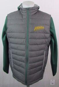 GIII Oakland Athletics Men's L Full-Zip 2-in-1 Hoodie & Vest Jacket MLB