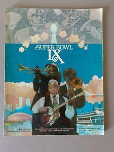 Pittsburgh Steelers vs Minnesota Vikings Super Bowl IX Program NFL
