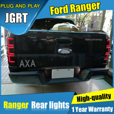 2X For Ford Ranger Cherry Red LED Rear Lights Assembly LED Tail Lamps 2016-2018