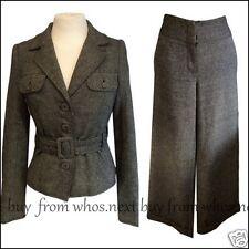 44 Kate Moss Topshop Small 8 10 12 vintage winter wool tweed ladies trouser suit