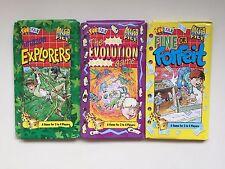 3 Fun Fax Book Mega Games File AMAZON/EVOLUTION/FINE OR FORFEIT 2-4 Players