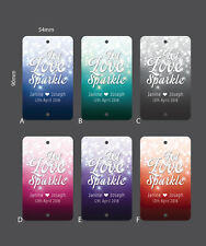 100 x Personalised Sparkler Tags  - Favor Tags, Weddings Let Love Sparkle Tags