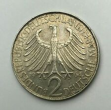 Dated : 1964 D - Germany - 2 Mark - Federal Republic 2 Mark - Max Planck