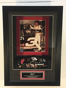 CUSTOM NASCAR DISPLAY W NAME PLATE FOR 1:24 DIECAST AND 8X10 (Box Only see desc)