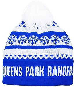 Queens Park Rangers FC  Snowboard Ski Bobble Hat QPR FC Thick Wooley Hat